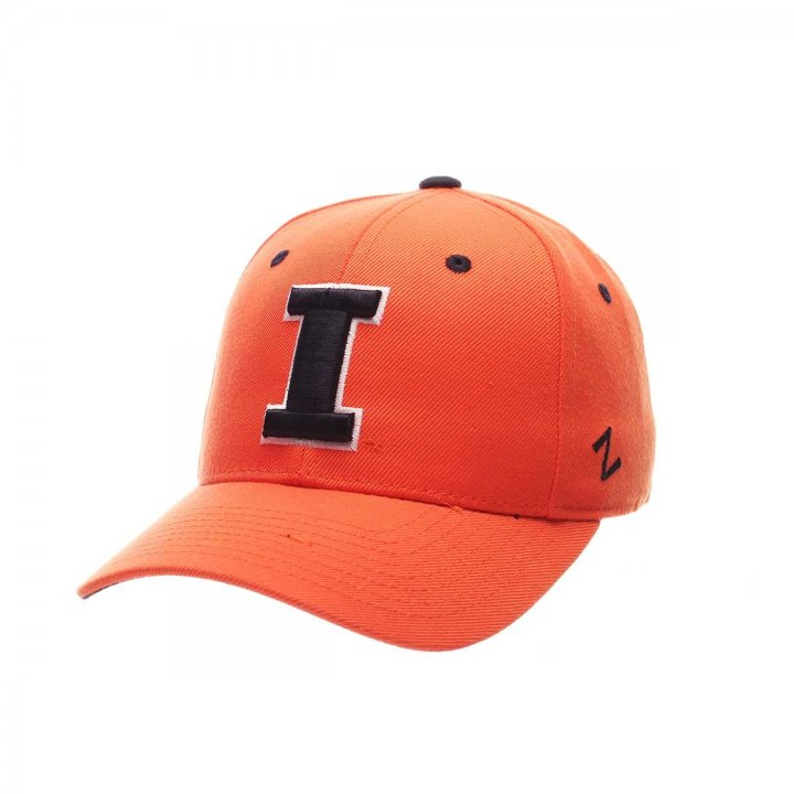 Illinois Fighting Illini Zephyr NCAA Dh Fitted Hat (Orange)