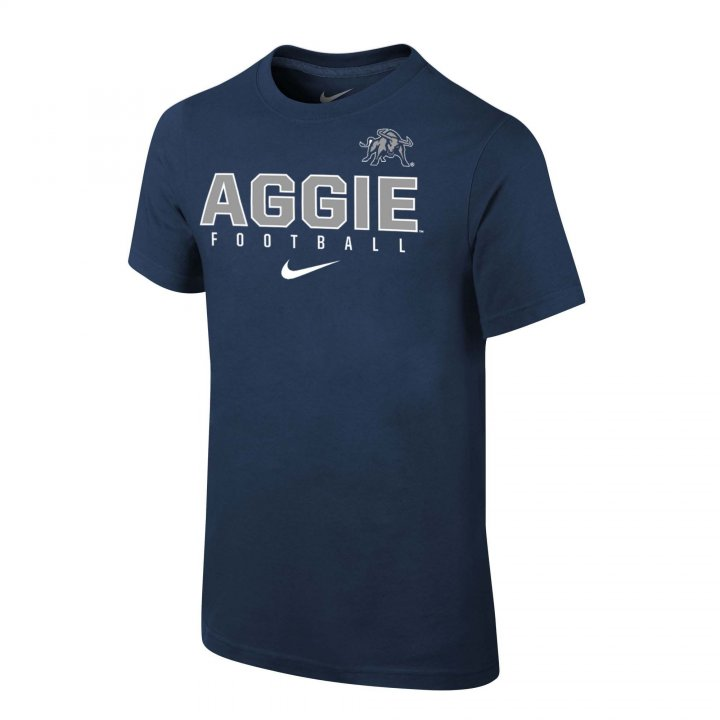 Utah State Aggies Youth Core Facility Sideline T-Shirt (Navy)