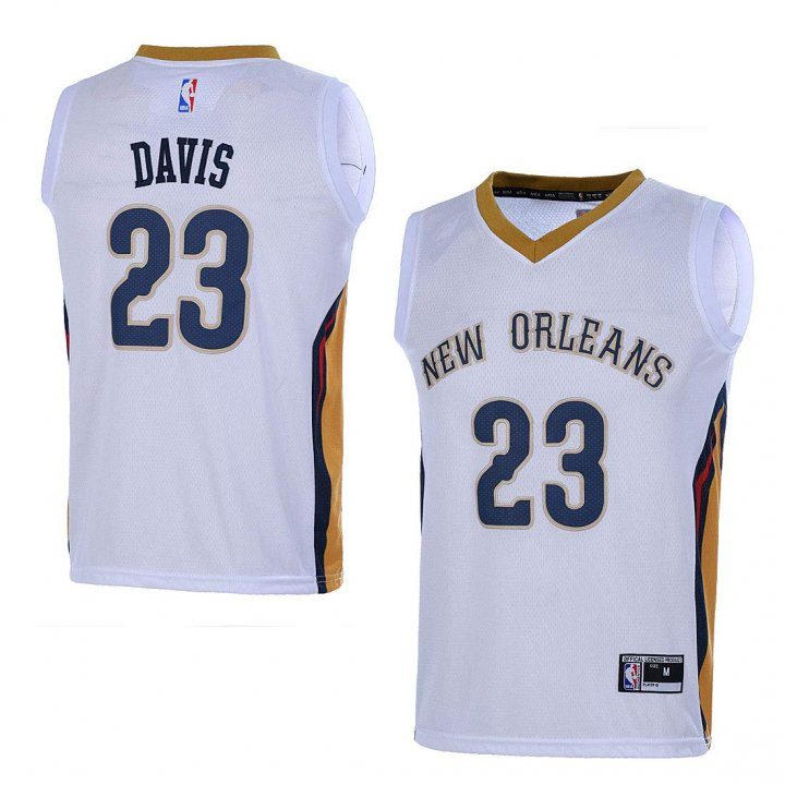 Outerstuff Youth NBA 8-20 New Orleans Pelicans #23 Anthony Davis Swingman Jersey White