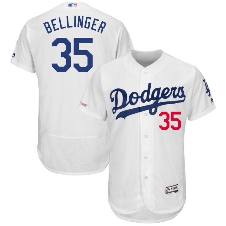 Franklin Sports Cody Bellinger #35 Los Angeles Dodgers Men's Home Cool Base Flexbase Player Jersey - White