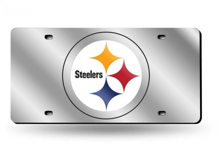Pittsburgh Steelers NFL Laser Cut Alternate License Plate Tag