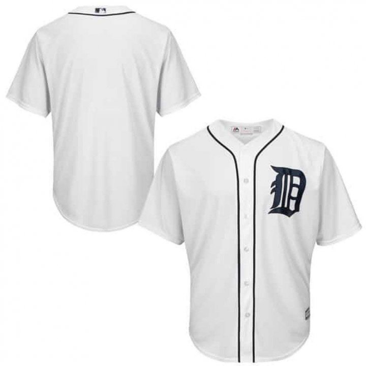 VF Detroit Tigers MLB Mens Majestic Cool Base Alternate Replica Jersey White Big & Tall Sizes