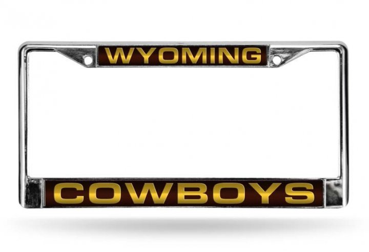 Wyoming Cowboys NCAA Laser Chrome License Plate Frame
