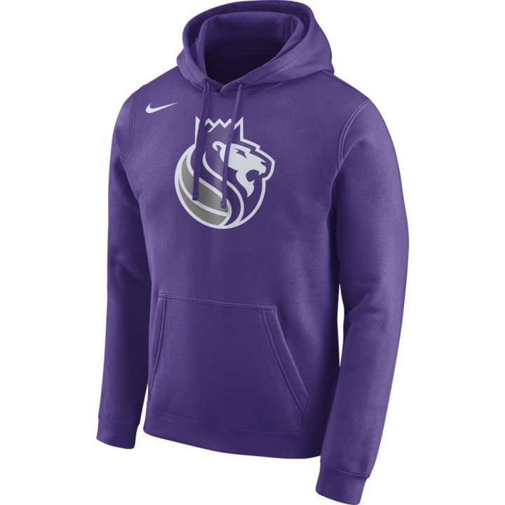 Sacramento Kings NBA Mens Nike Logo Club Hood (Purple)