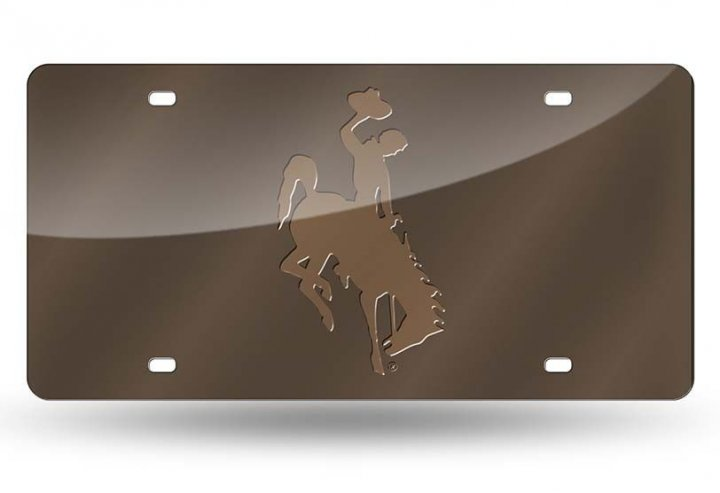 Wyoming Cowboys NCAA Laser Cut License Plate Tag