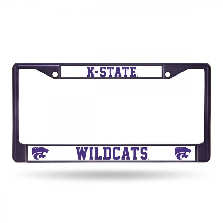 Kansas State Wildcats Colored Chrome Frame (Purple)