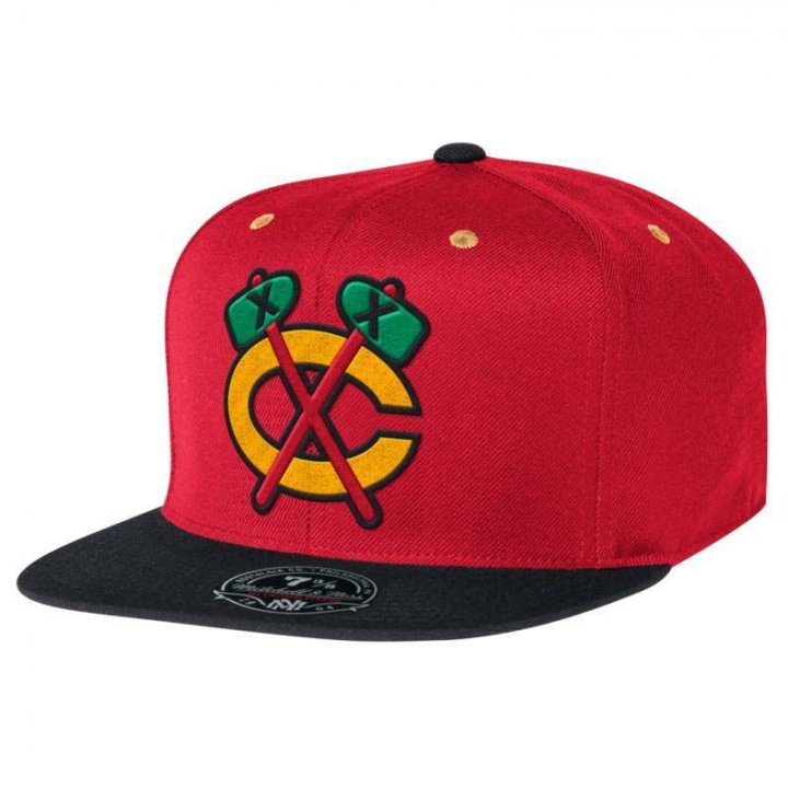 Chicago Blackhawks NHL Two Tone High Crown Fit (Red)