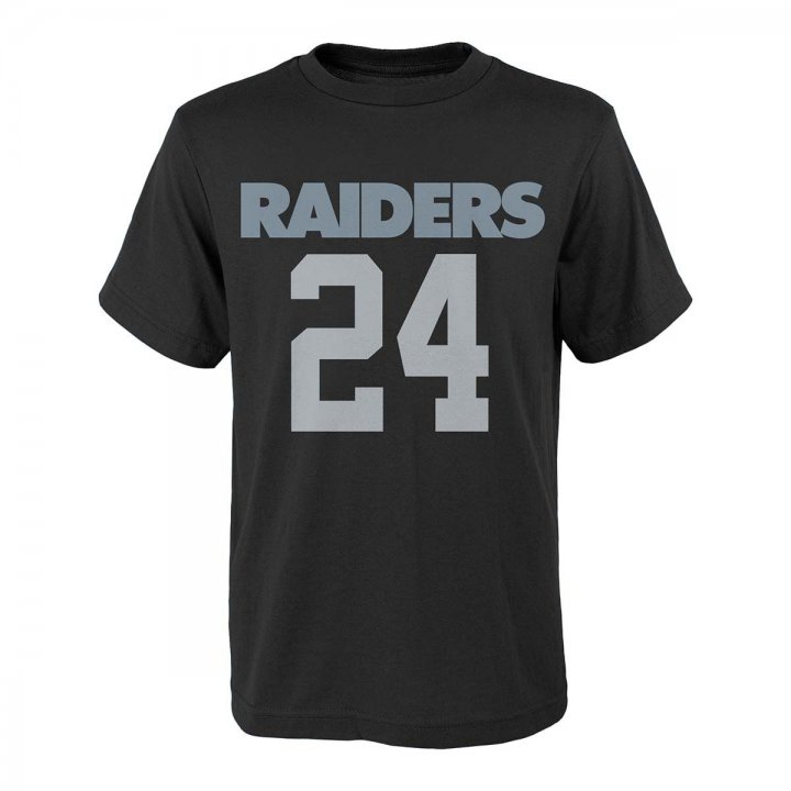 Oakland Raiders NFL Marshawn Lynch Mainline Tee (Black)
