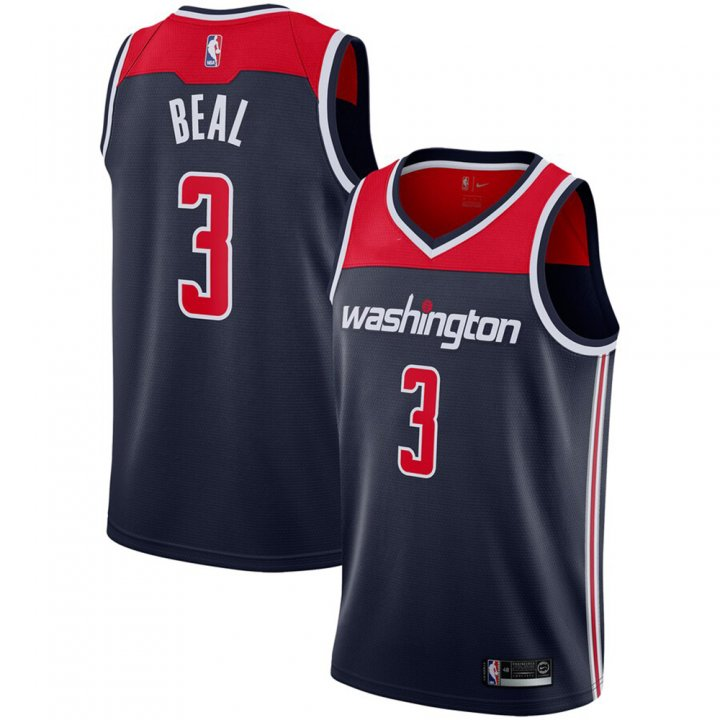 Franklin Sports Bradley Beal #3 Washington Wizards Statement Edition Swingman Jersey Navy