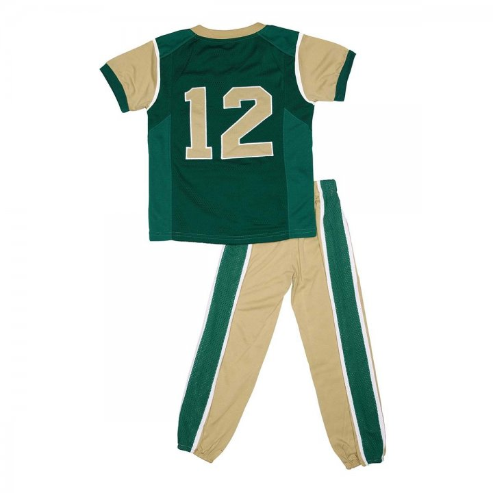 Colorado State Rams Toddler Two Piece Football Uniform Pajama Set (Green)