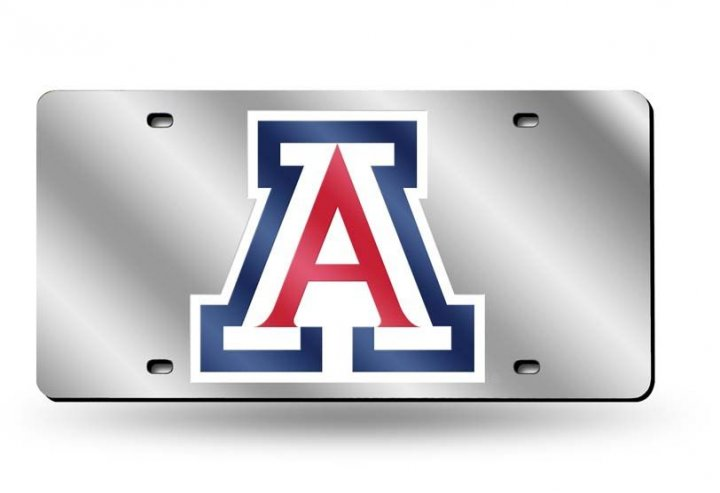 Arizona Wildcats NCAA Laser Cut Alternate License Plate Tag