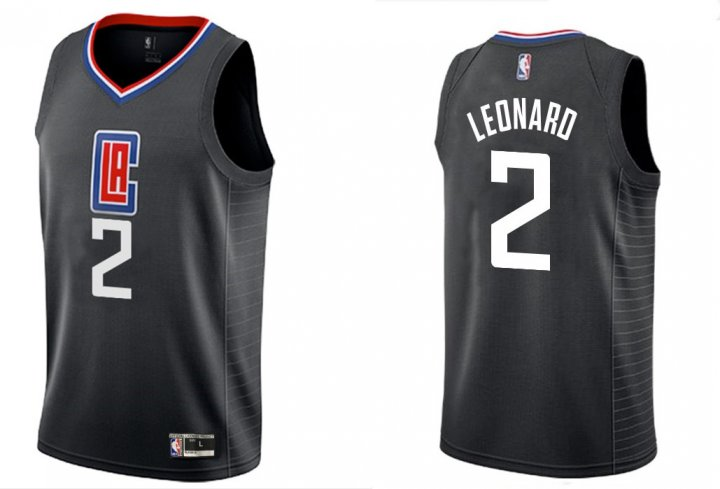 Franklin Sports Youth Kids 2 Kawhi Leonard LA Clippers Jersey Black