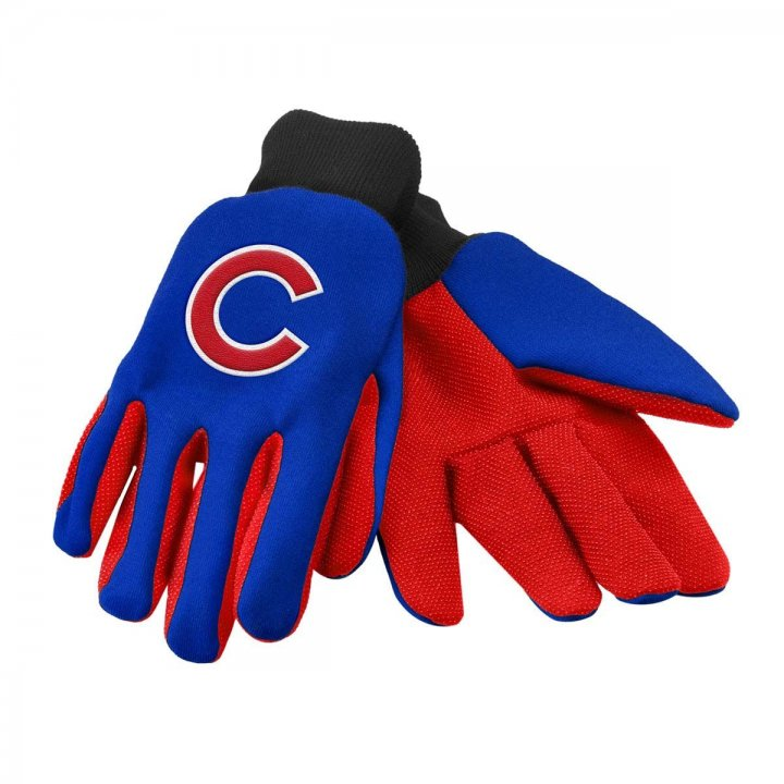 Chicago Cubs Two Color Work Gloves
