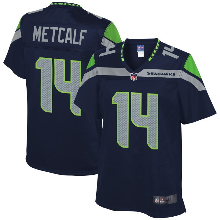 VF LSG DK Metcalf #14 Seattle Seahawks NFL Pro Line Player Jersey - College Navy