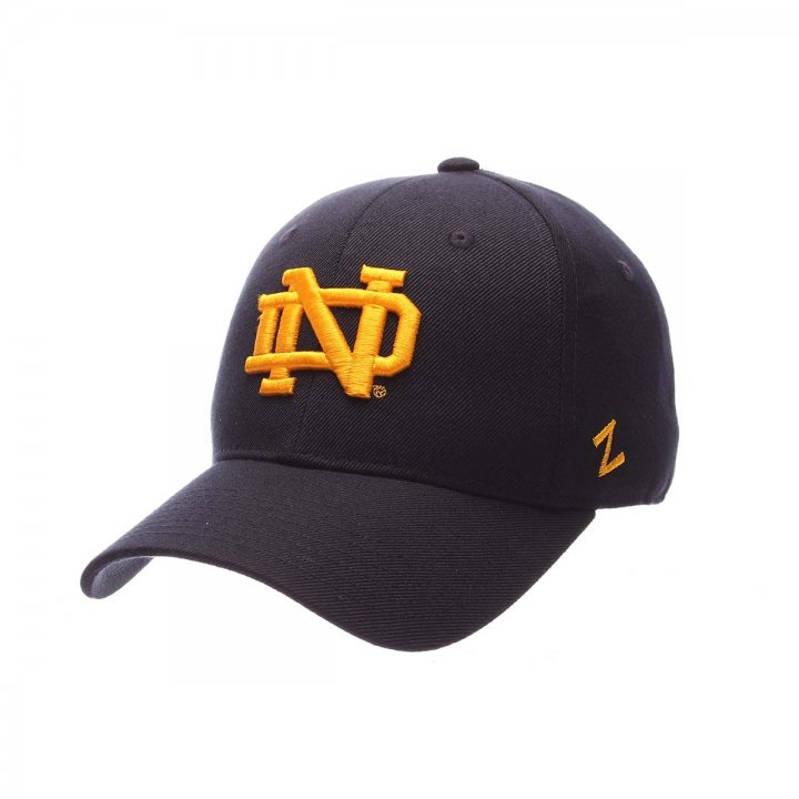 Notre Dame Fighting Irish Zephyr NCAA Dh Fitted Hat (Navy)