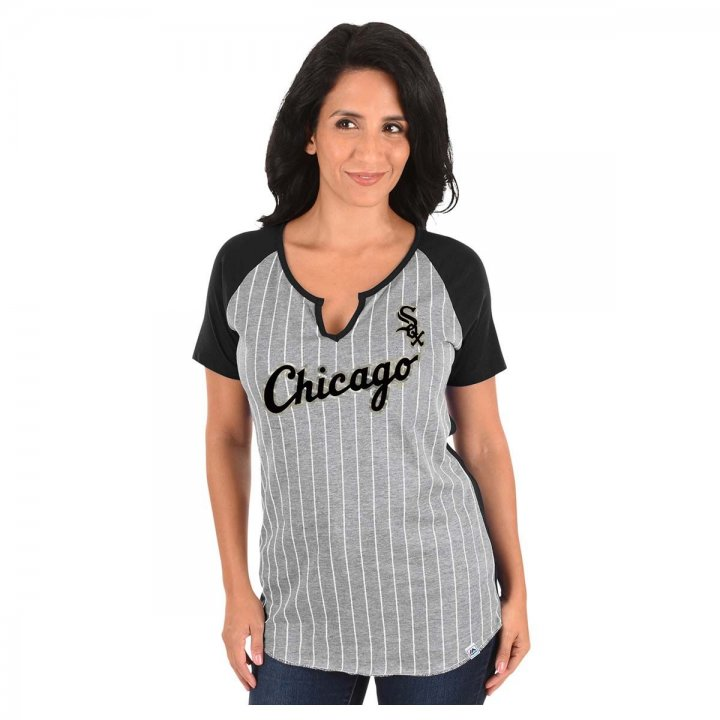 Chicago White Sox MLB From The Stretch Vnotch Tee (Gray)