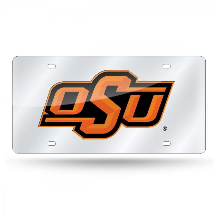Oklahoma State Cowboys NCAA Alternate Laser Cut License Plate Tag
