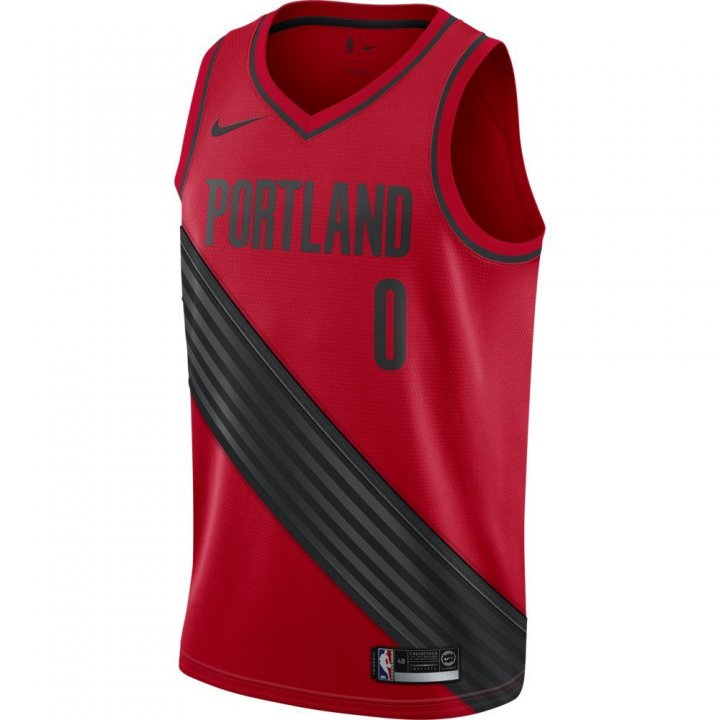 Portland Trail Blazers NBA Damian Lillard Statement Swingman Jersey (Red)