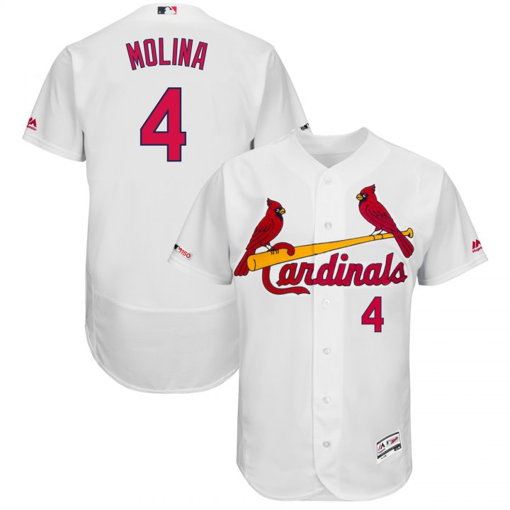 Majestic Athletic St. Louis Cardinals Majestic Home Flex Base Authentic Collection Yadier Molina Jersey-White