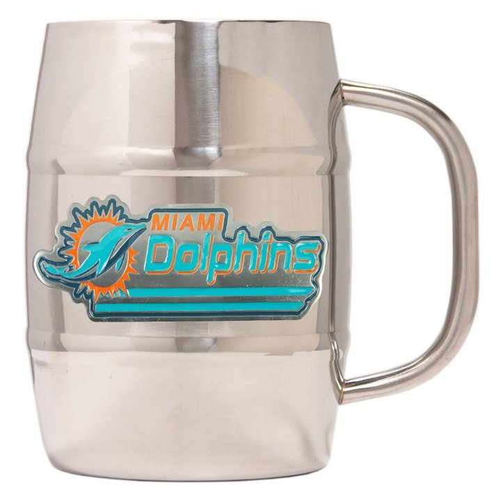 Miami Dolphins Miami Dolphins 32 oz Double Wall Stainless Steel Mug