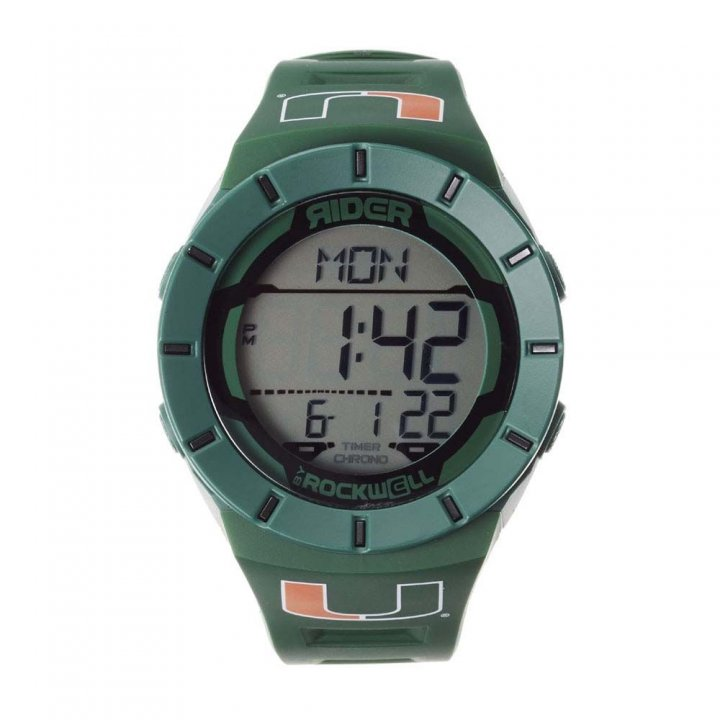 Miami Hurricanes Coliseum Watch (Green)