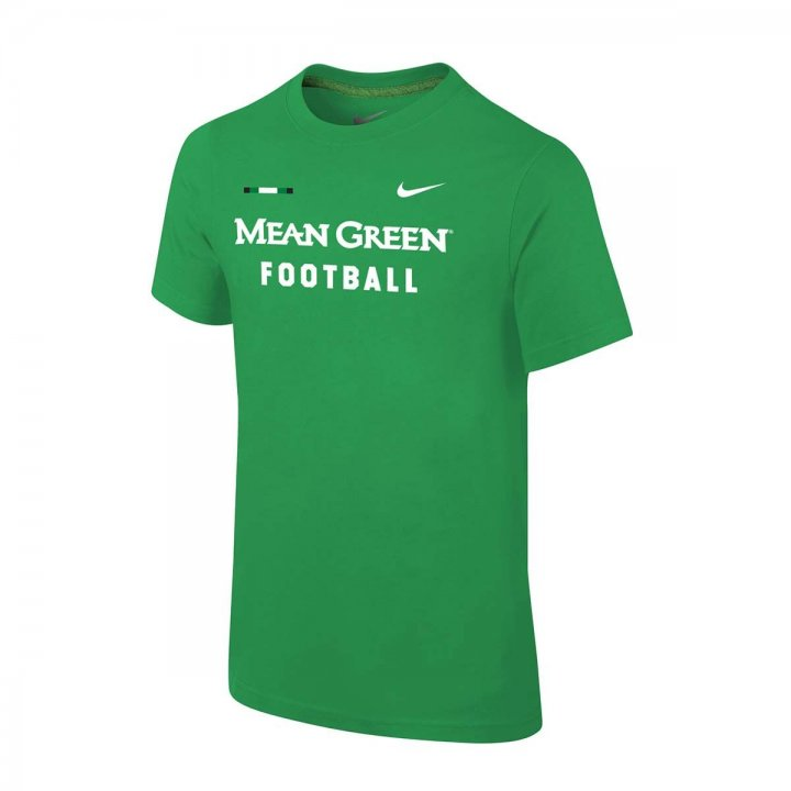 North Texas Mean Green NCAA Youth Facility Tee (Green)
