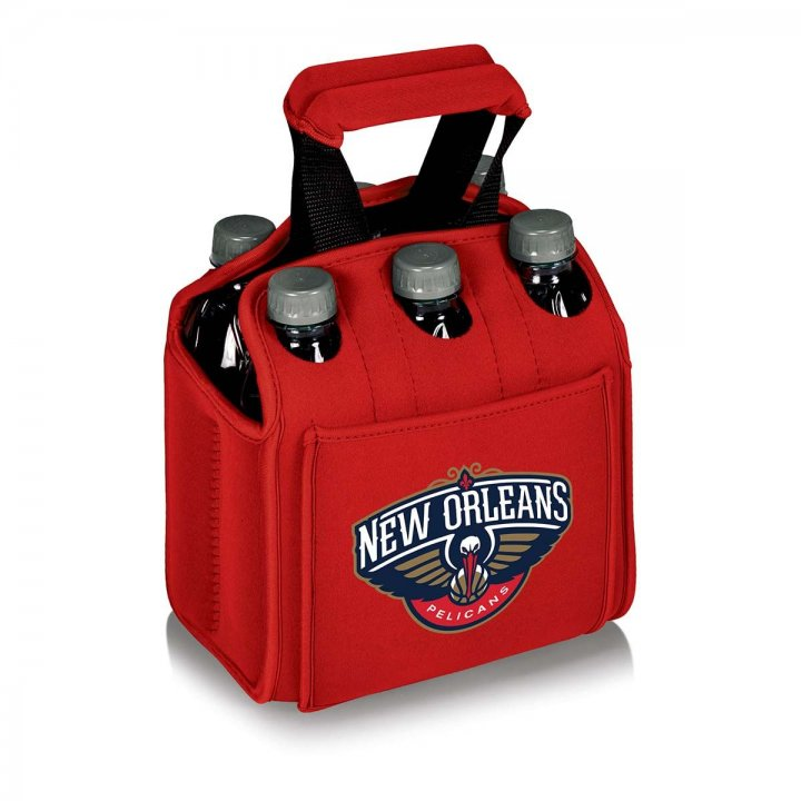 New Orleans Pelicans Six Pack Beverage Carrier (Red)