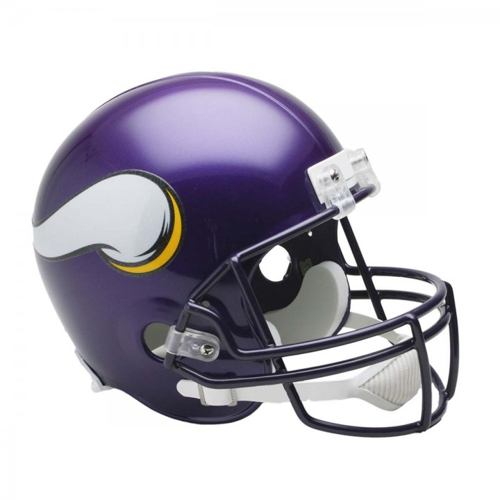 Minnesota Vikings Throwback 2006-2012 VSR4 Deluxe Replica Helmet