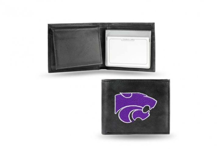 Kansas State Wildcats NCAA Leather Wallet (Black)