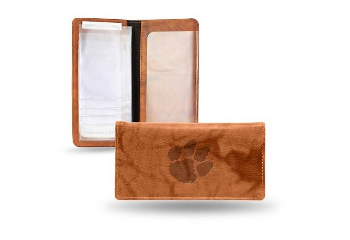 Clemson Tigers Embossed Checkbook Cover