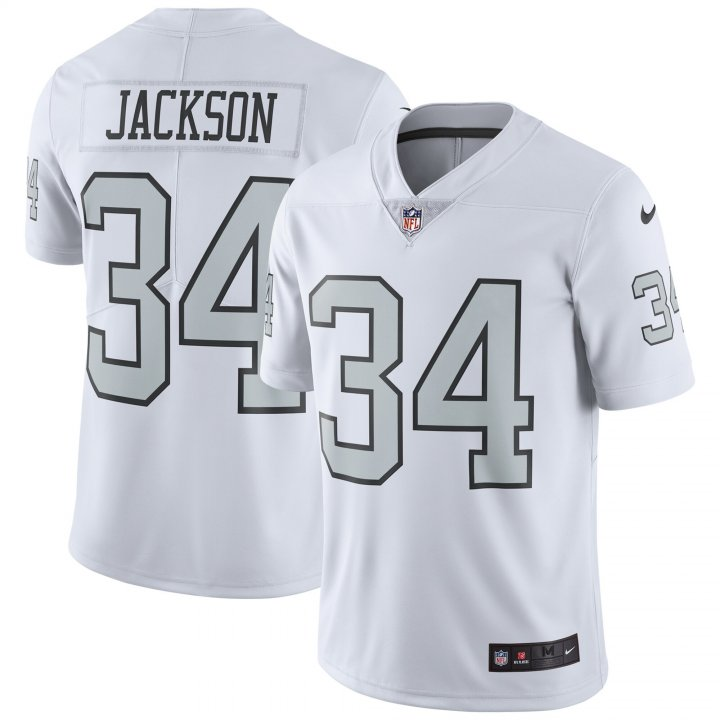 Franklin Sports Youth Kids 34 Bo Jackson Oakland Raiders Jersey White