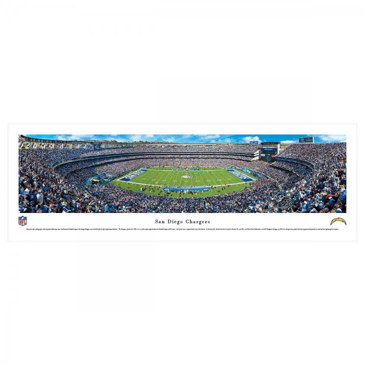 Los Angeles Chargers Unframed Panorama