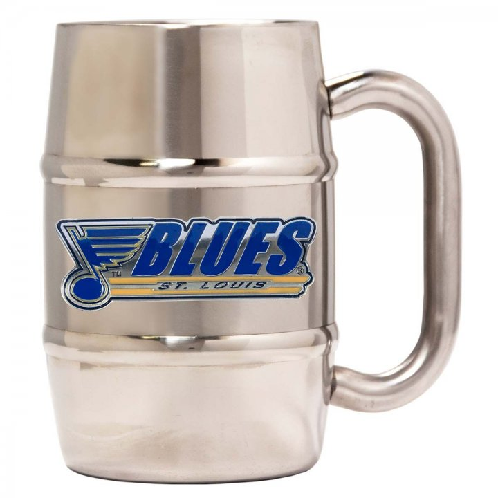 St Louis Blues 16 oz Double Wall Stainless Steel Mug (Silver)