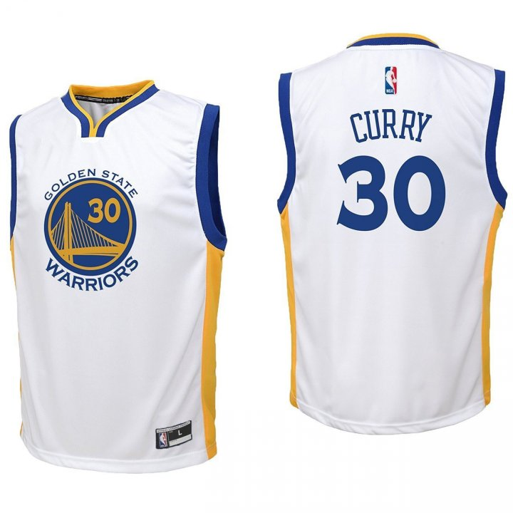 Outerstuff Boys Stephen Curry Golden State Warriors #30 Youth Road Jersey White