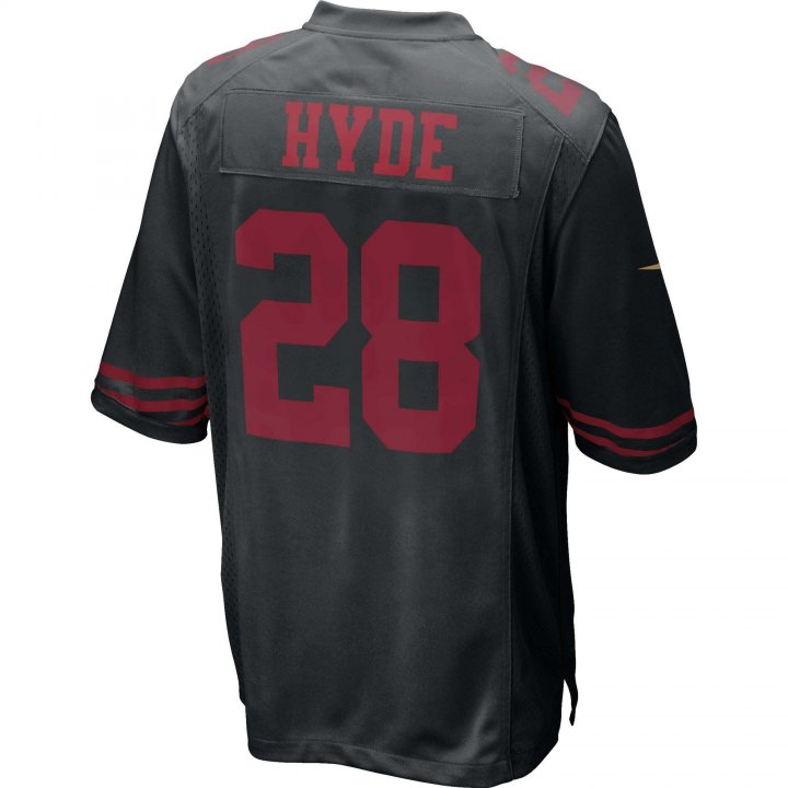 Carlos Hyde San Francisco 49ers Nike Game Jersey (Black)