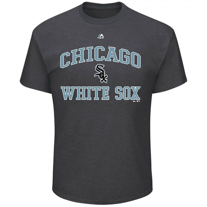 Chicago White Sox MLB Mens Heart And Soul T-Shirt (Charcoal)
