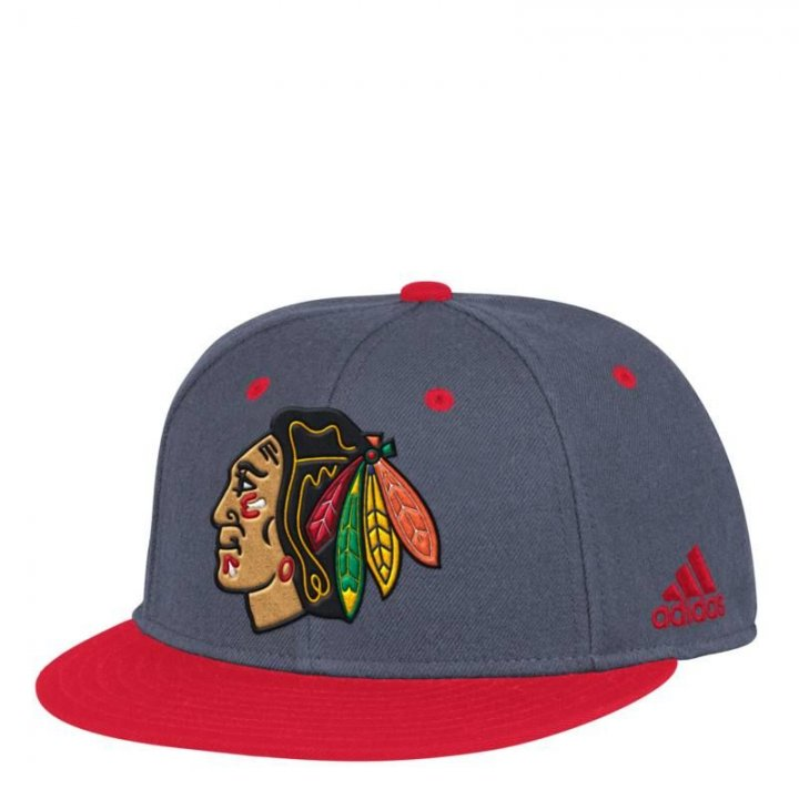 Chicago Blackhawks NHL Two Tone Launch Fitted (Gray)