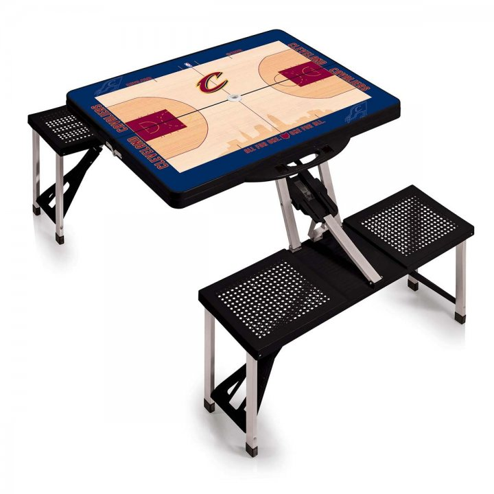 Cleveland Cavaliers Portable Picnic Table with Sports Field Design