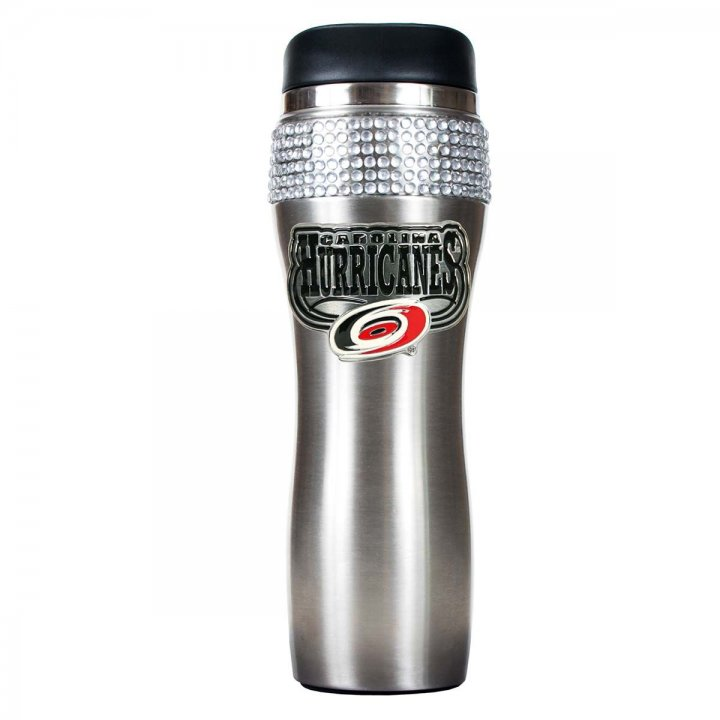 Carolina Hurricanes NHL Carolina Hurricanes Stainless Steel Bling Travel Tumbler (Silver)
