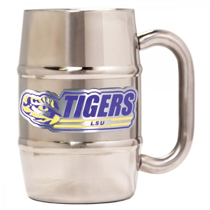LSU Tigers Lsu Tigers 16 oz Double Wall Stainless Steel Mug