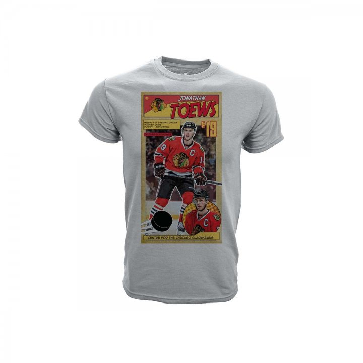 Jonathan Toews Chicago Blackhawks Youth First Issue Player T-Shirt (Gray)