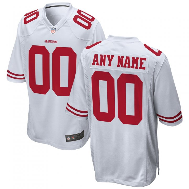 VF Men Youth Kids San Francisco 49ers Custom Any Name Number Embroidery Jersey White