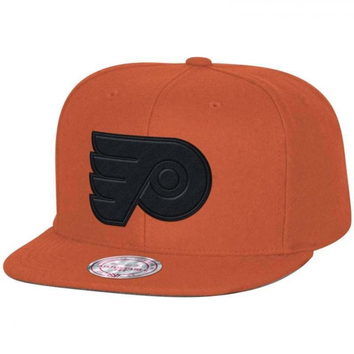 Mitchell & Ness Philadelphia Flyers Melton Proper Snapback Hat (Red)