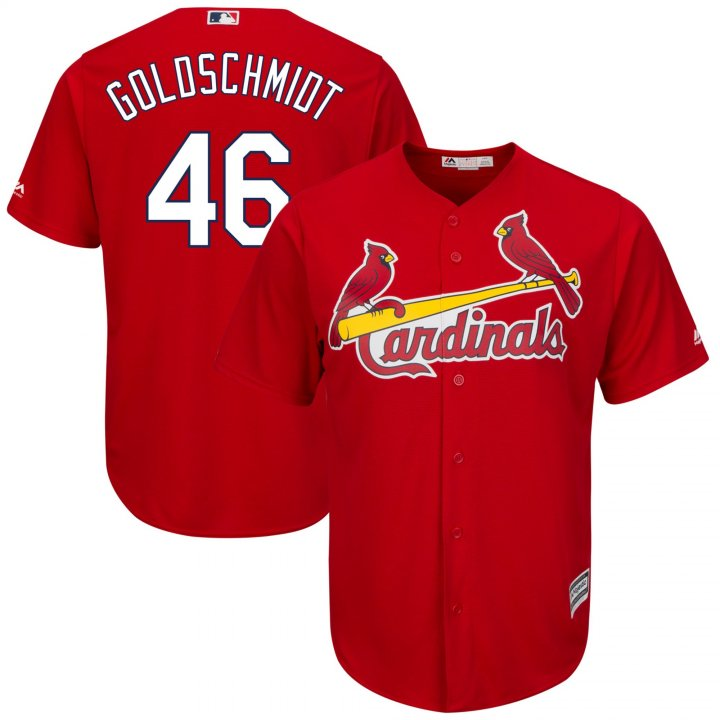 Outerstuff Youth Kids St. Louis Cardinals 46 Paul Goldschmidt Home Player Jersey Red