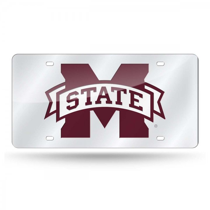 Mississippi State Bulldogs NCAA Alternate Laser Cut License Plate Tag