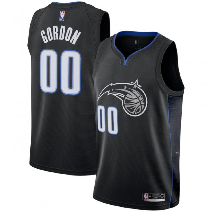 Majestic Athletic Aaron Gordon #00 Orlando Magic 2018-19 Swingman Men's Jersey Black
