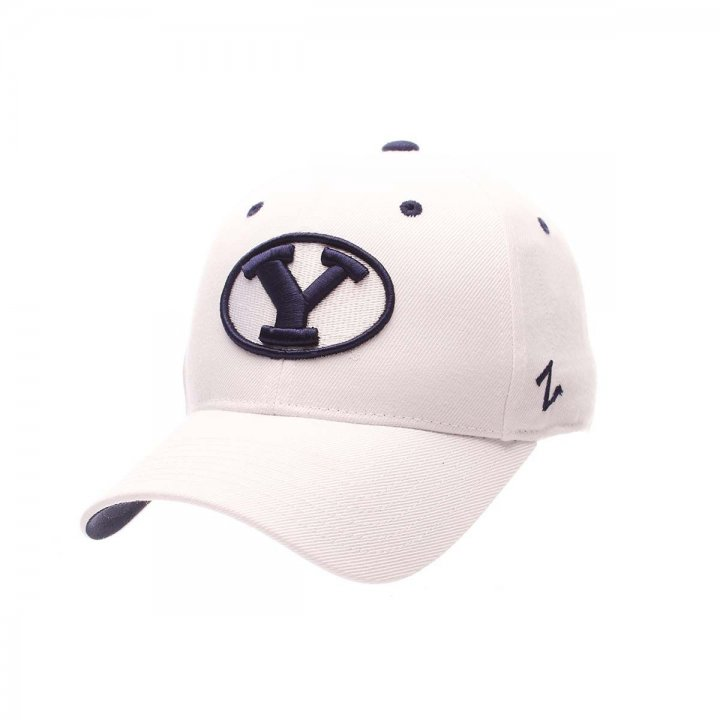 BYU Cougars Zephyr NCAA Dh Fitted Hat (White)
