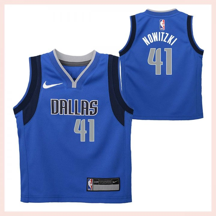 Dallas Mavericks NBA Dirk Nowitzki Toddler Icon Replica Jersey (Royal)