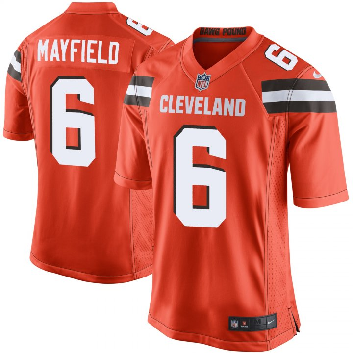 Outerstuff Youth Kids 6 Baker Mayfield Cleveland Browns Jersey Orange