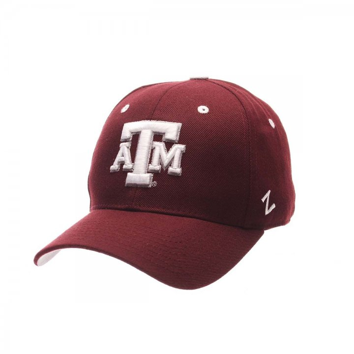 Texas A&M Aggies Zephyr NCAA Dh Fitted Hat (Red)